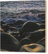Rocks At The Coast, Giants Causeway Wood Print