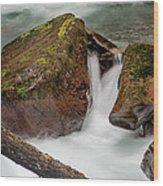 Rocks Of Avalanche Gorge Wood Print