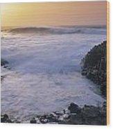 Rocks On The Beach, Giants Causeway Wood Print
