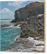 Rocky Barrier Island Wood Print