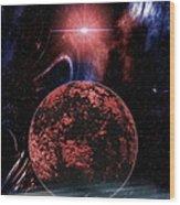 Rocky Extrasolar Planet Wood Print