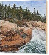 Rocky Maine Coastline. Wood Print