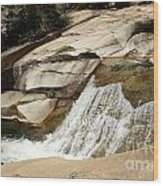 Rocky Mountain Cascades Wood Print