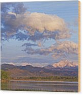 Rocky Mountain Early Morning View Wood Print