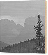 Rocky Mountain High Bw Wood Print