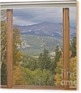 Rocky Mountain Picture Window Scenic View Wood Print