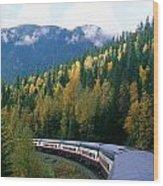 Rocky Mountain Rail Tours, Jasper Wood Print
