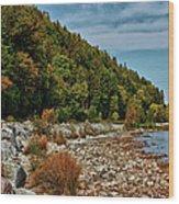 Rocky Shores Wood Print
