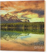 Rocky Sunrise Wood Print