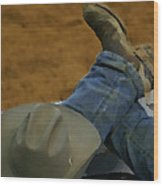 Rodeo Break Wood Print
