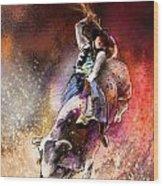 Rodeoscape 01 Wood Print by Miki De Goodaboom
