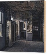Roe - Graves House Kitchen Of Bannack Ghost Town - Montana Wood Print