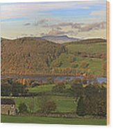 Roe House Overlooks Ullswater Near Pooley Bridge In The Lake District Wood Print