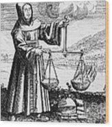 Roger Bacon Conducting An Experiment Wood Print