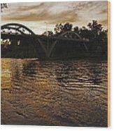 Rogue River Sunset Wood Print