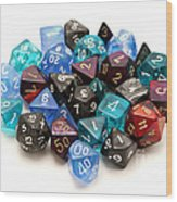 Role-playing Dices Wood Print