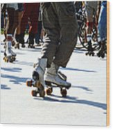 Roller Skates Wood Print