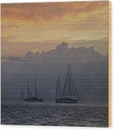 Rolling Fog Bank - Key West Wood Print