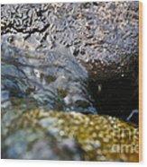 Rolling River Wood Print
