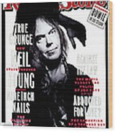 Rolling Stone Cover - Volume #648 - 1/21/1993 - Neil Young  Wood Print