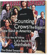 Rolling Stone Cover - Volume #685 - 6/30/1994 - Counting Crows Wood Print