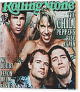 Rolling Stone Cover - Volume #839 - 4/27/2000 - Red Hot Chili Peppers  Wood Print