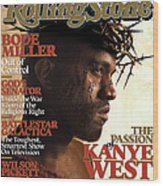 Rolling Stone Cover - Volume #993 - 2/9/2006 - Kanye West Wood Print