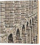 Roman Aqueduct Segovia Wood Print