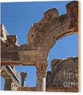 Roman Arch Ephesus Turkey Wood Print