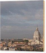 Roman Cityscape With Basilica Wood Print