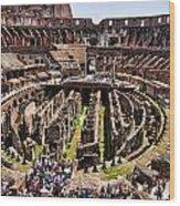 Roman Coleseum Interior Wood Print