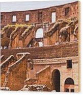 Roman Coliseum Interior Wood Print