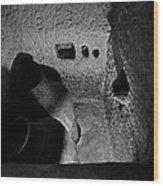 Roman Era Bathroom Carved Into Cave Wood Print