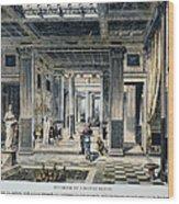 Roman House Interior Wood Print