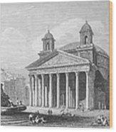 Roman Pantheon, 1833 Wood Print