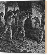 Roman Slavery: Coal Mine Wood Print by Granger