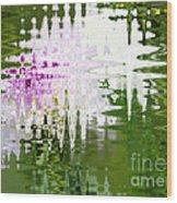 Romance In Paris - Abstract Art Wood Print