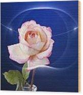 Romance Rose Wood Print by M K  Miller