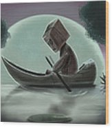 Romantic Boat Ride For One Wood Print