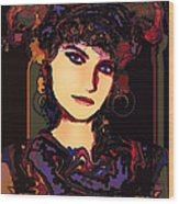 Romantic Lady Wood Print