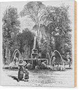 Rome: Borghese Gardens Wood Print