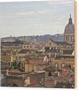 Rome Cityscape Wood Print by Marco Poggioli
