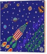 Romney Rocket - Restoring America's Promise Wood Print