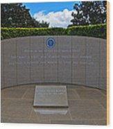 Ronald Reagan Memorial Wood Print