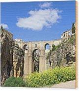 Ronda Bridge In Spain Wood Print