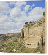 Ronda Cliffs In Andalusia Wood Print