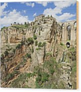 Ronda Rocks In Andalusia Wood Print