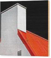 Roof And Chimney Wood Print