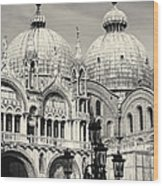 Roof And Facade Of St Mark Basilica  Wood Print