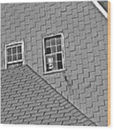 Roof Lines Wood Print